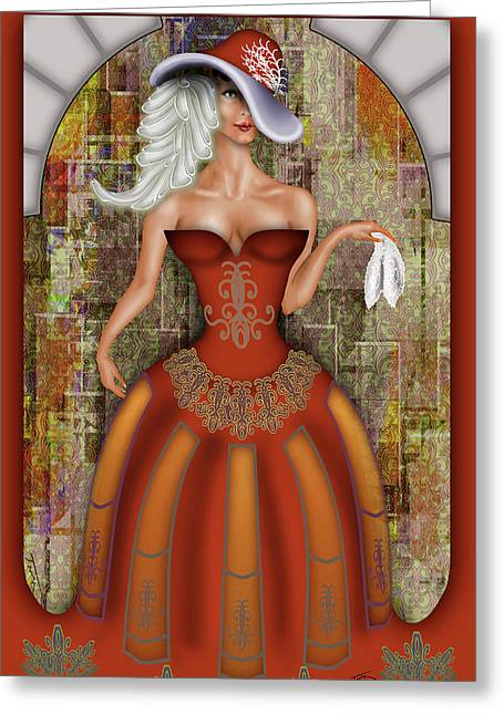 Le Mouchoir Greeting Card by Troy Brown