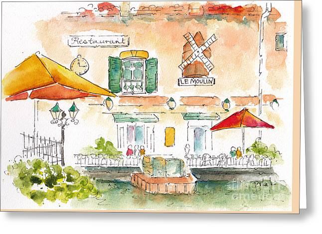 Le Moulin Isle Sur La Sorgue  Greeting Card by Pat Katz