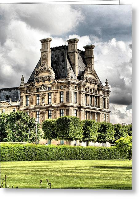Le Musee Du Louvre Greeting Card by Greg Sharpe