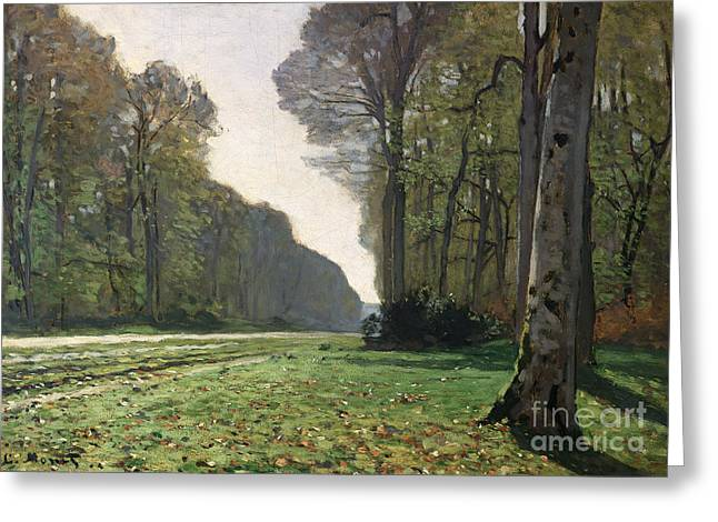 Rural Landscapes Paintings Greeting Cards - Le Pave de Chailly Greeting Card by Claude Monet