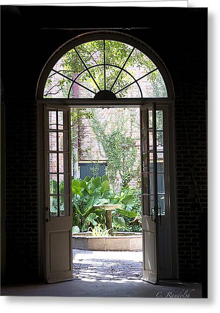 French Doors Greeting Cards - Le Petit Theater Greeting Card by Cheri Randolph