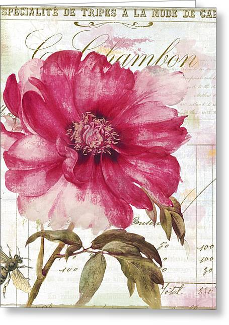 Le Pink  Greeting Card by Mindy Sommers