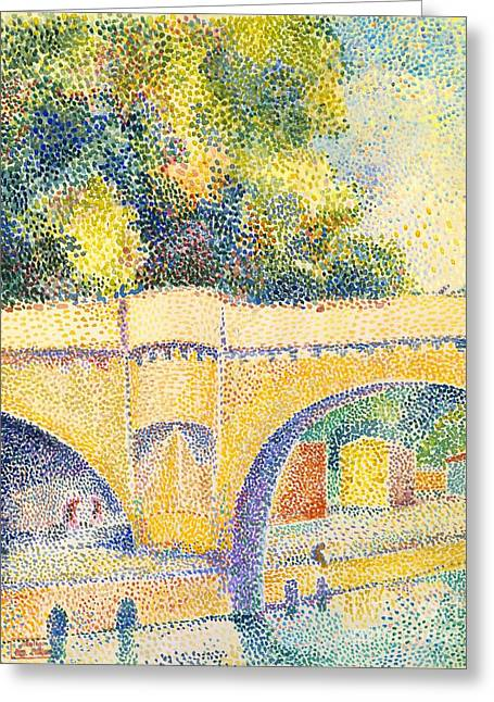 Hippolyte Greeting Cards - Le Pont Neuf Greeting Card by Hippolyte Petitjean