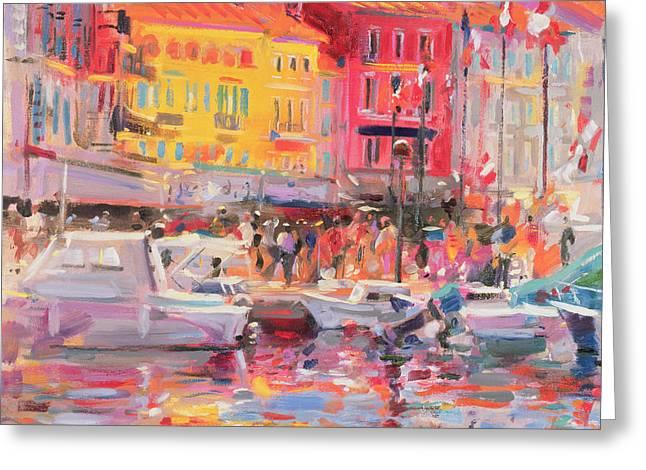 Le Port de St Tropez Greeting Card by Peter Graham