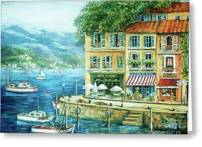 Port Greeting Cards - Le Port Greeting Card by Marilyn Dunlap