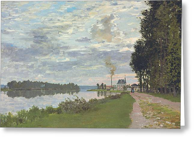 Besides Greeting Cards - Le Promenade dArgenteuil Greeting Card by Claude Monet