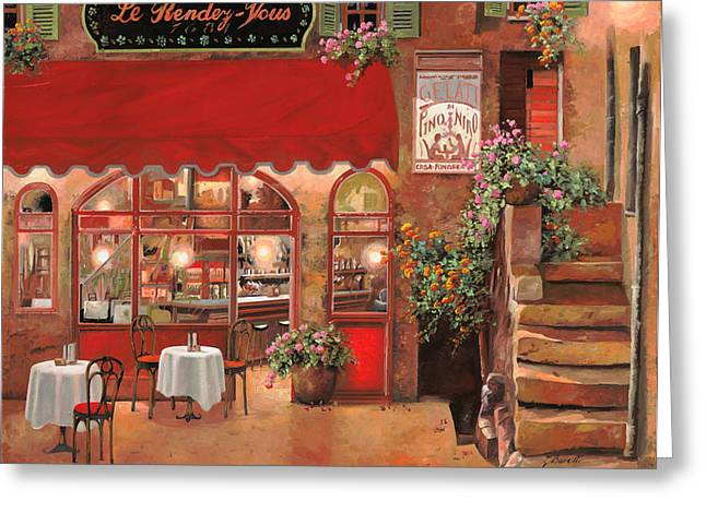 Le Rendez Vous Greeting Card by Guido Borelli