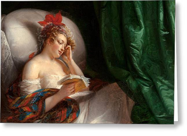 Pensive Greeting Cards - Le Roman Greeting Card by Aimee Pages nee Brune