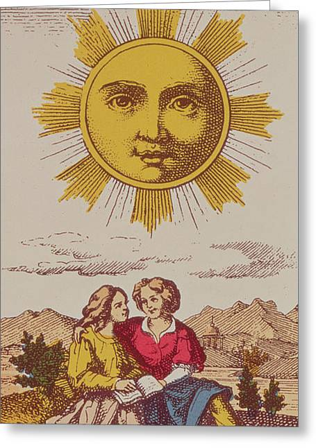 Le Soleil Greeting Card by French School
