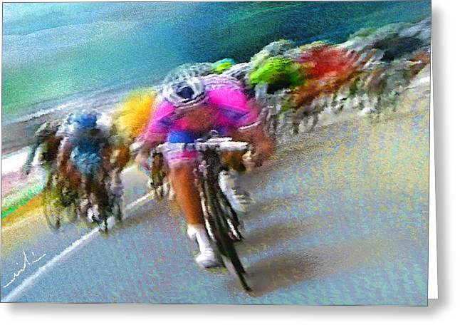 Le Tour De France 09 Greeting Card by Miki De Goodaboom