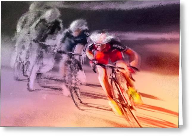 Le Tour De France 13 Greeting Card by Miki De Goodaboom