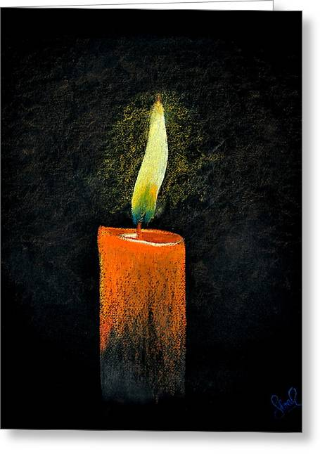 Flames Pastels Greeting Cards - Lead Kindly Light Greeting Card by Shreekant Plappally