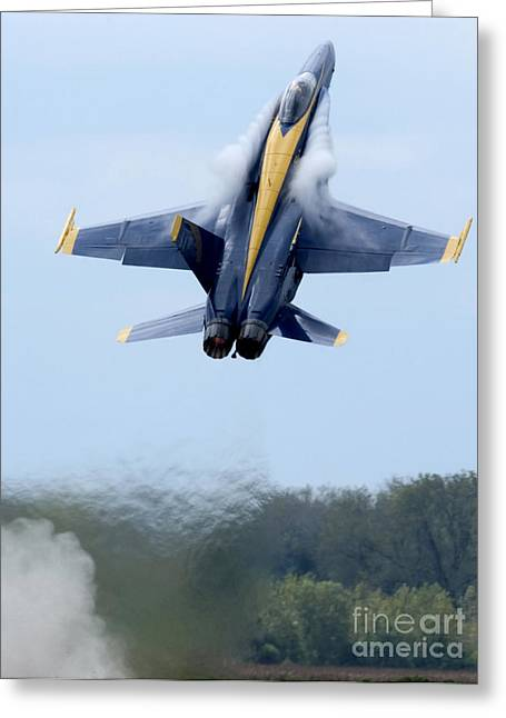 F-18 Greeting Cards - Lead Solo Pilot Of The Blue Angels Greeting Card by Stocktrek Images