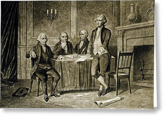 Leaders Of The First Continental Congress Greeting Card by Augustus Tholey