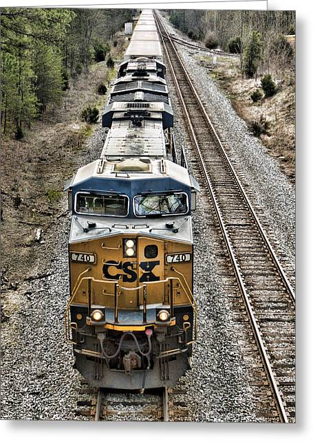 Csx Greeting Cards - Leading A Long Line Greeting Card by Tim Wilson