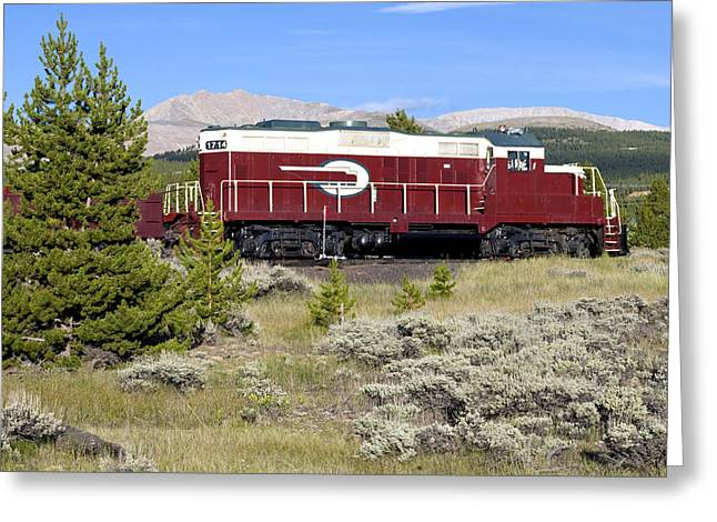 Caboose Greeting Cards - Leadville Colorado and Southern Railroad Car Greeting Card by Brendan Reals