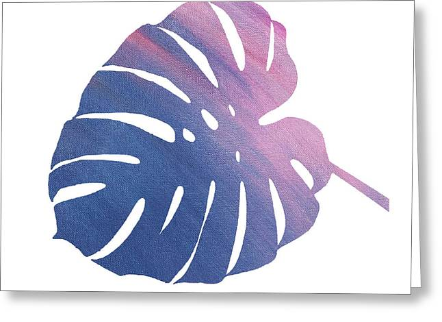 Leaf Abstract 1 Greeting Card by Art Spectrum