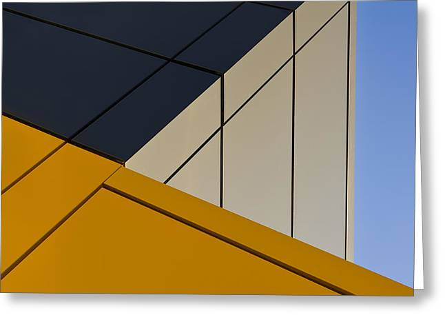 Yellow Line Photographs Greeting Cards - Leaning Against The Blue Sky Greeting Card by Gerard Jonkman