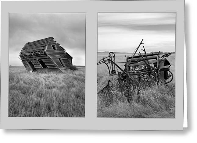 Leaning Diptych Greeting Card by Leland D Howard