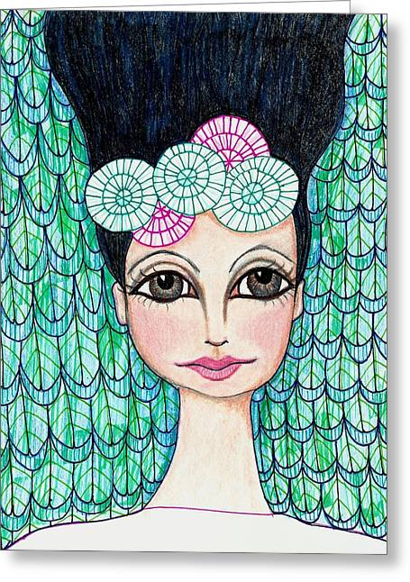 Lisa Noneman Mixed Media Greeting Cards - Leap of Faith Greeting Card by Lisa Noneman