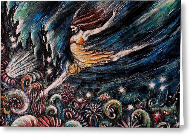 Liberation Mixed Media Greeting Cards - Leap of Faith Greeting Card by Zoe  Oakley