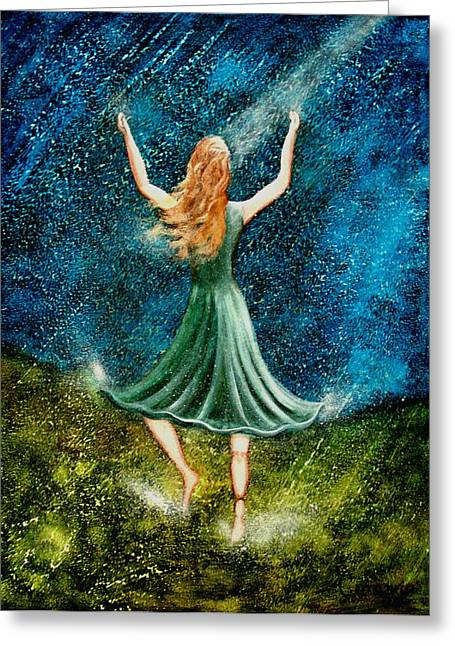 Learning To Dance In The Rain II Greeting Card by Charlotte Smith