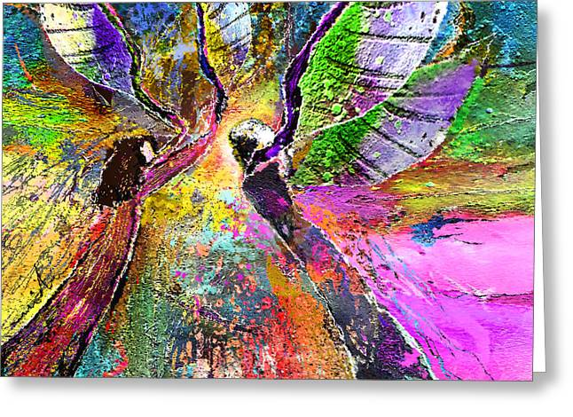 Learning To Fly Greeting Card by Miki De Goodaboom
