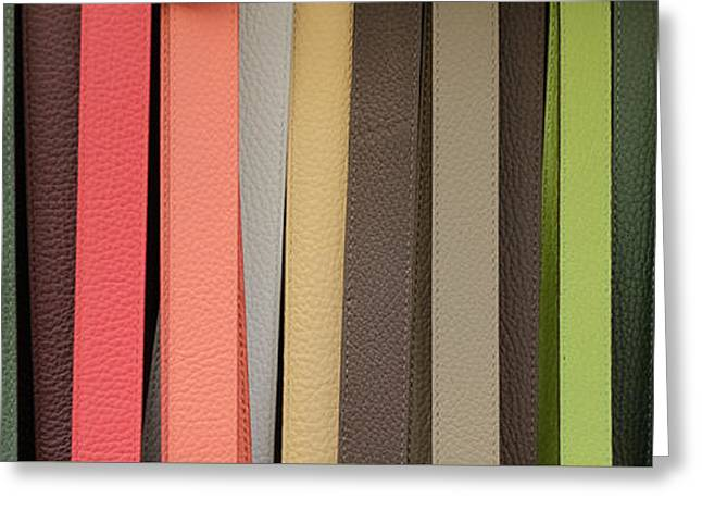 Leather Greeting Cards - Leather belts Florence Italy Greeting Card by Edward Fielding