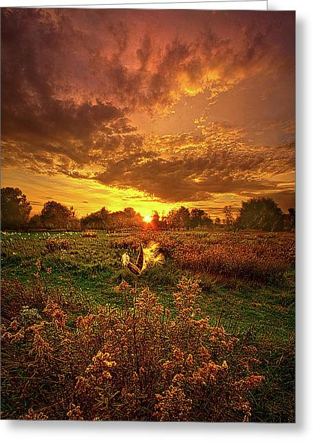 Leave A Light On Greeting Card by Phil Koch