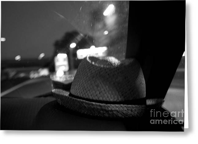 Leave Your Hat On Greeting Card by Donato Iannuzzi