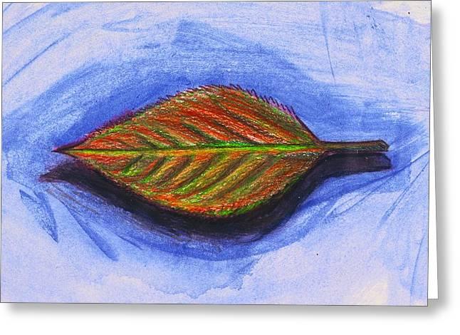 Blackart Greeting Cards - Leaves Arent Always Green Greeting Card by Malik Seneferu