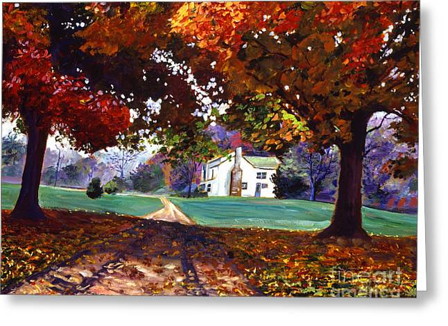 Maple Season Paintings Greeting Cards - Leaves of Color Greeting Card by David Lloyd Glover