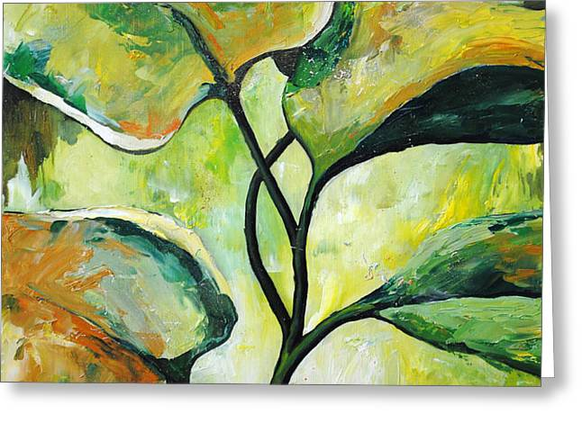 Leaves2 Greeting Card by Chris Steinken