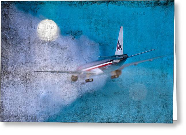 Leavin' On A Jet Plane Greeting Card by Rebecca Cozart