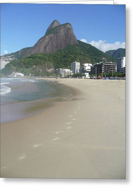 Ipanema Beach Greeting Cards - Leaving a Mark Greeting Card by Joe  Burns
