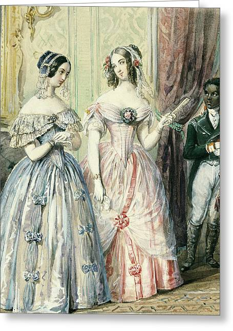 Ball Gown Greeting Cards - Leaving For The Ball Greeting Card by Alexandre-Marie Colin
