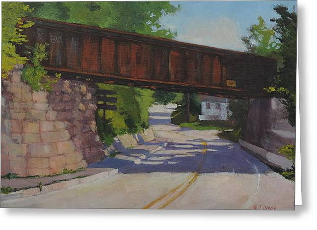 Roadway Greeting Cards - Leaving Hallowell Greeting Card by Bill Tomsa