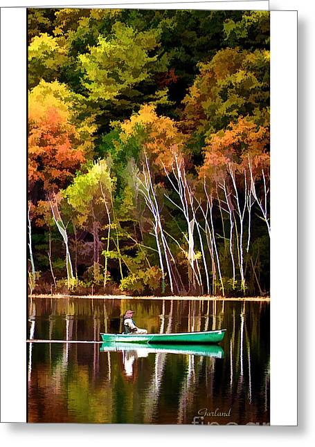 Leaving Lake Transition One Third Greeting Card by Garland Johnson