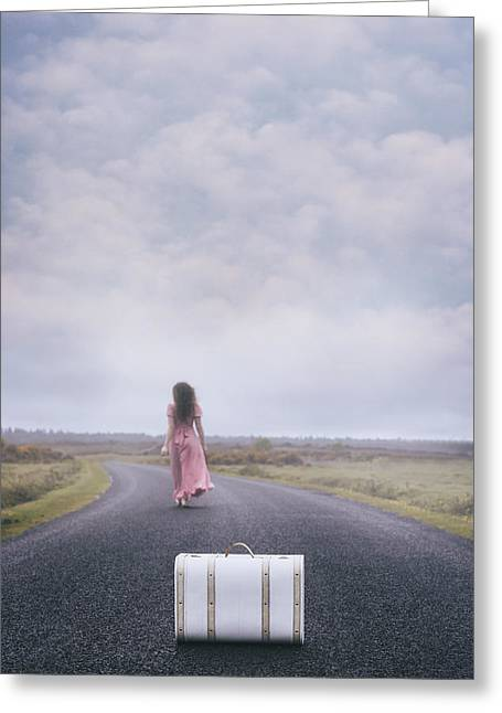 Leaving My Baggage Behind Me Greeting Card by Joana Kruse