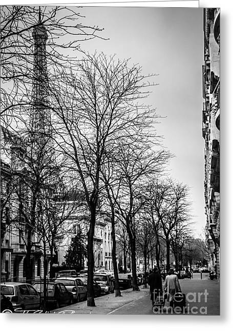 Rolling Luggage Greeting Cards - Leaving Paris Greeting Card by Tito Slack