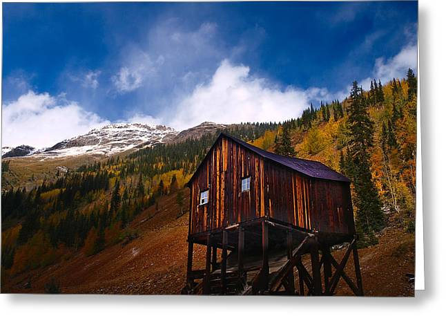 Snow Capped Greeting Cards - Leaving Silverton Greeting Card by Laura Ragland