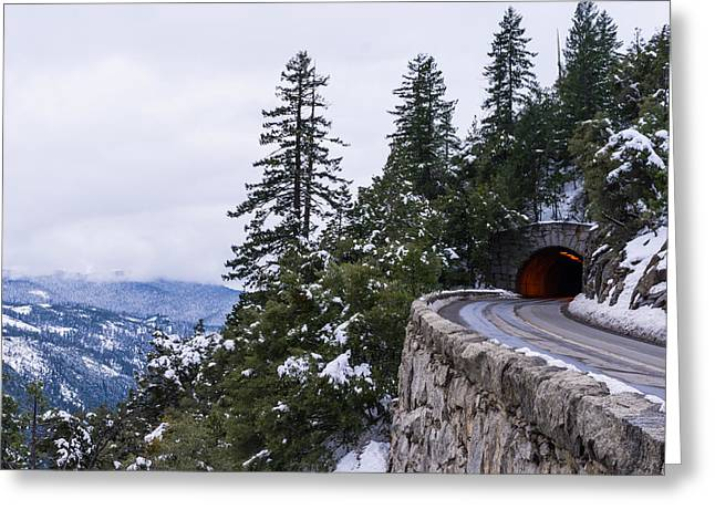 Leaving Yosemite Greeting Card by Priya Ghose