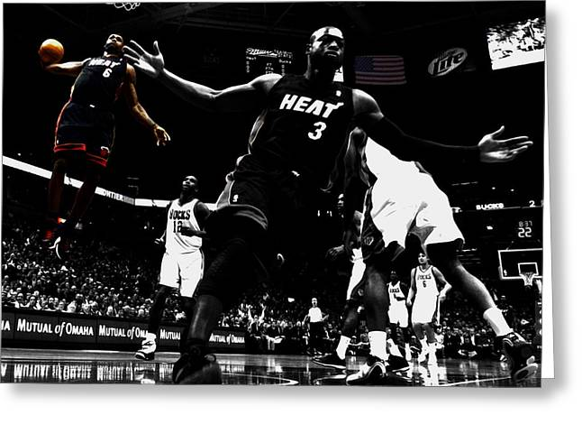 Lebron James 6a Greeting Card by Brian Reaves