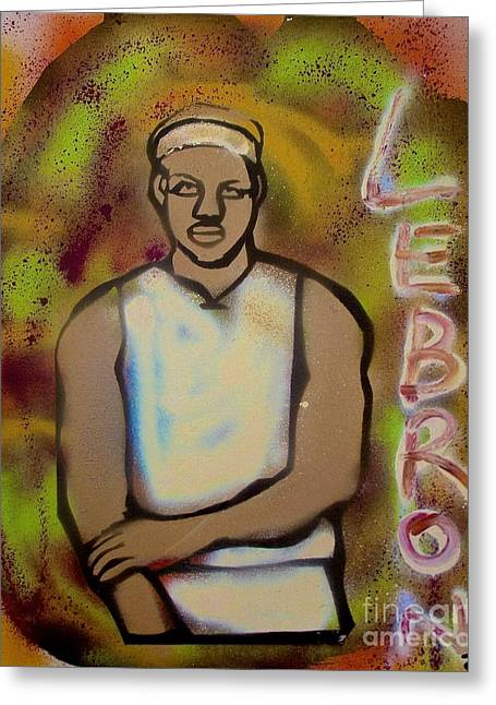 Lebron James Paintings Greeting Cards - Lebron James Street Art Greeting Card by Tony B Conscious