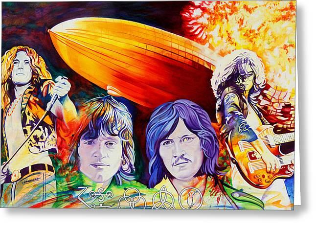Led Zeppelin Greeting Card by Joshua Morton