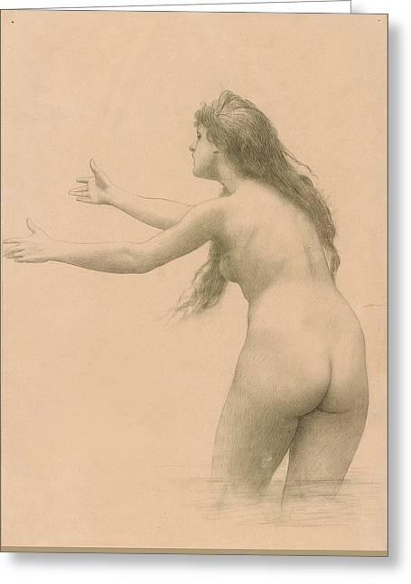 Leda Greeting Card by Jean-Leon Gerome