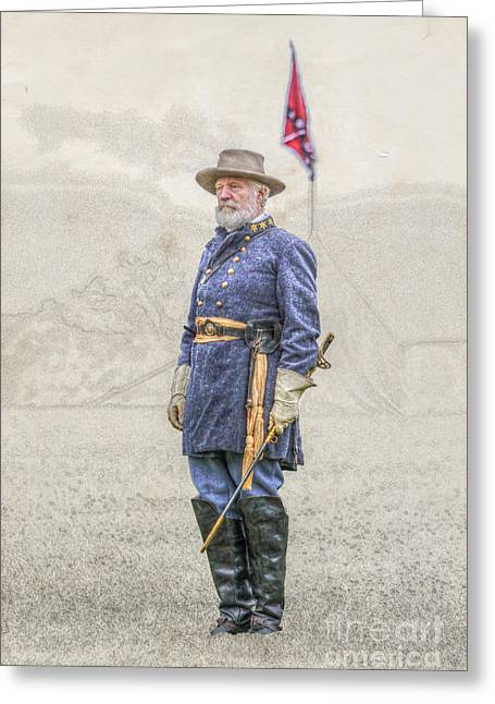Confederate Flag Greeting Cards - Lee at Appomattox Greeting Card by Randy Steele