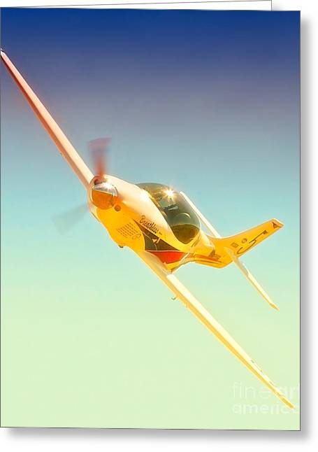 Reno Air Races Greeting Cards - Lee Behel and Race 5 Breathless 2010 Reno Air Races Greeting Card by Gus McCrea