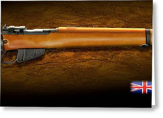 Royal Family Arts Greeting Cards - Lee Enfield British firearm Greeting Card by John Wills