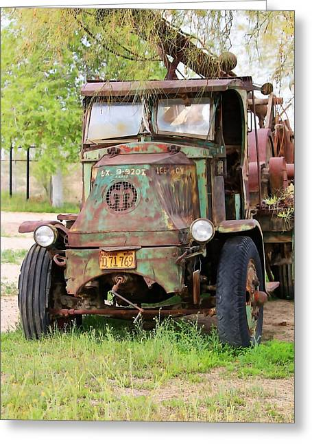 Lee Roy's Mack Rig Greeting Card by Art Block Collections